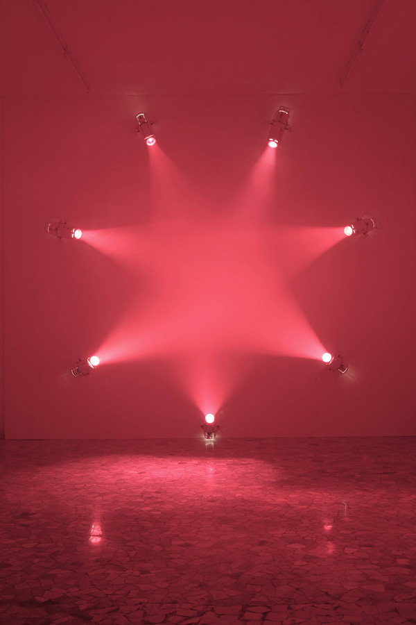 Ann Veronica Janssens wall-mounted work Rose (2007)