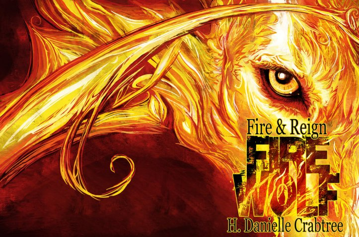 Fire Wolf © Janice Duke. Book cover for Fire Wolf by H. Danielle Crabtree.