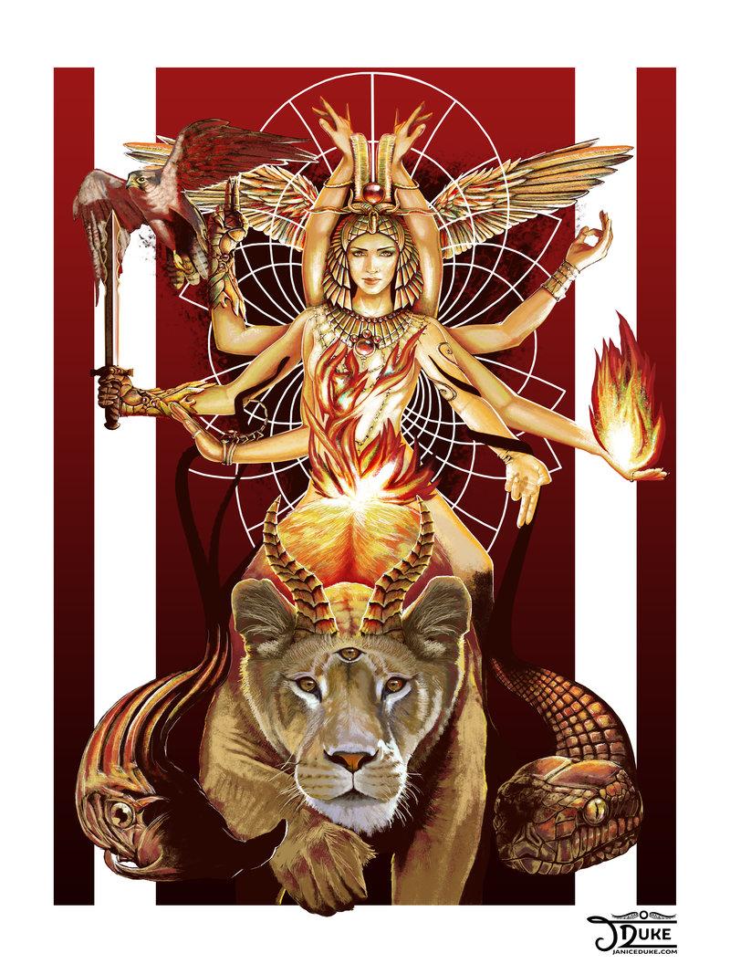 Sol Invictus © Janice Duke. Book cover art for Hawk Divine by Janice Duke.