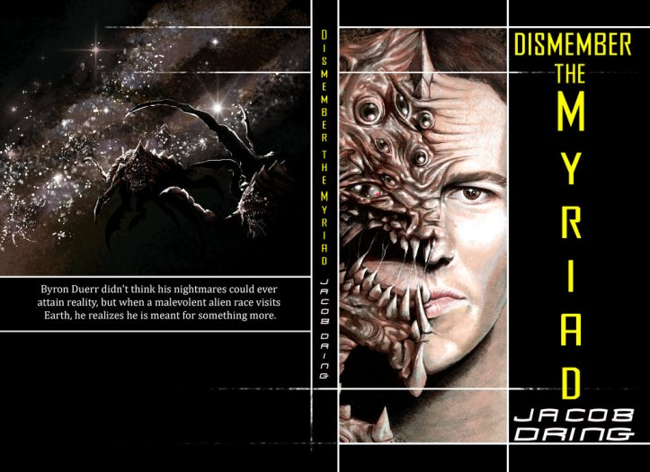Dismember the Myriad © Janice Duke. Book cover for Dismember the Myriad by Jacob Russell Dring.