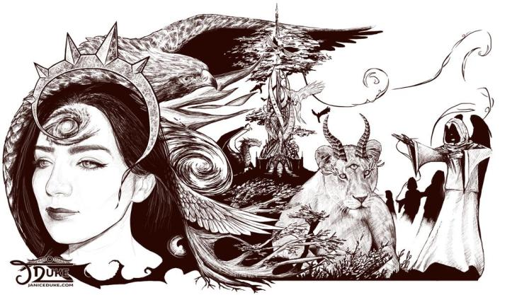 Spiral © Janice Duke. Illustration. Personal Work.